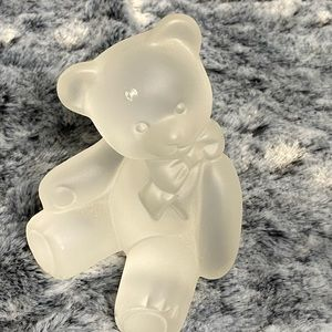 Lenox crystal bear first edition - with defects